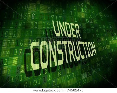 Under Construction Words Isolated On Digital Background