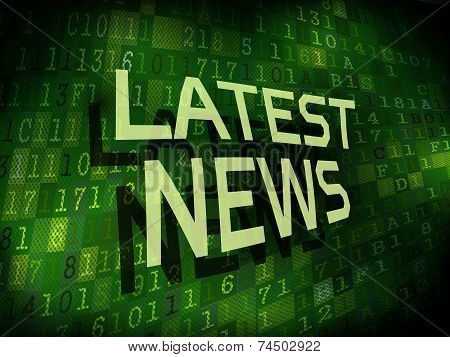 Latest News Words Isolated On Digital Background
