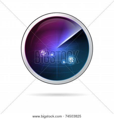 Conceptual vector illustration of business radar