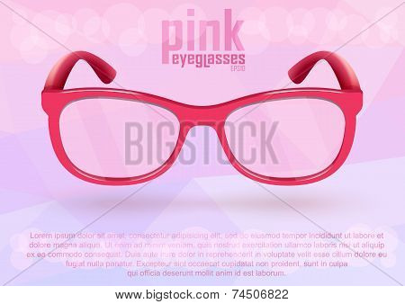 Pink eyeglasses for positive lifestyle