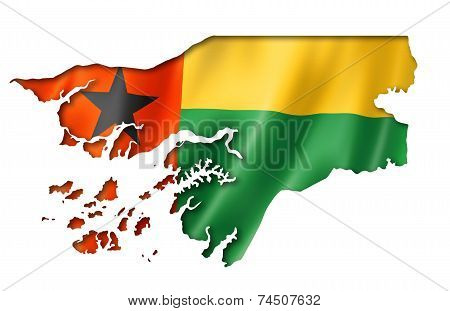 Guinea Bissau Flag Map