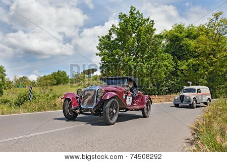 O.m. 665 Ss Mm Superba (1930) Runs In Mille Miglia 2014
