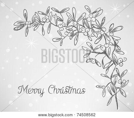 Christmas Mistletoe Doodle