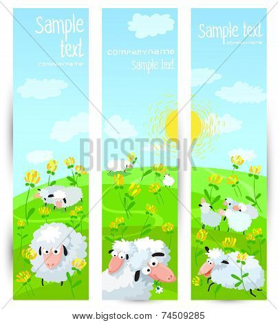 Banners With Sheeps