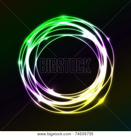 Colorful Plasma Circle Effect  Background