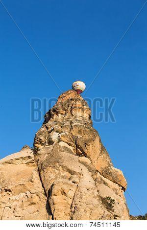 Rock formations in Goreme National Park. Cappadocia Turkey