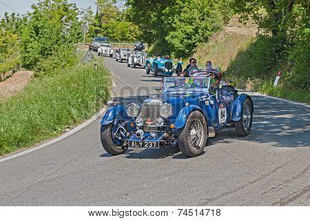 Vintage Aston Martin Le Mans In Mille Miglia 2014