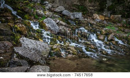 Waterfall In The Jura Mountain