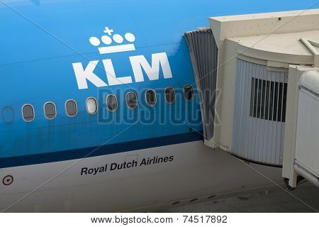 Part of a commercial airplane