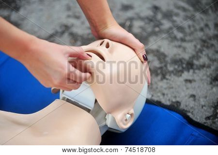 Resuscitation Procedure On A Mannequin