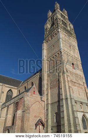 The Holy Savior Cathedral In Bruges (belgium)