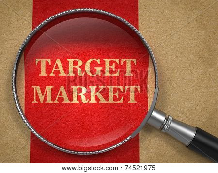 Target Market through Magnifying Glass.
