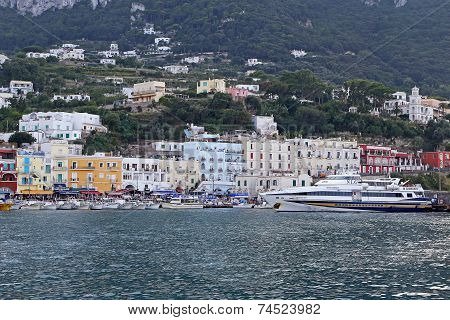 The Marina Grande Of Capri Island - Naples, Italy