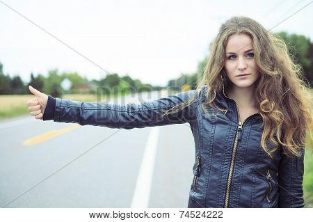 Auto-stop woman