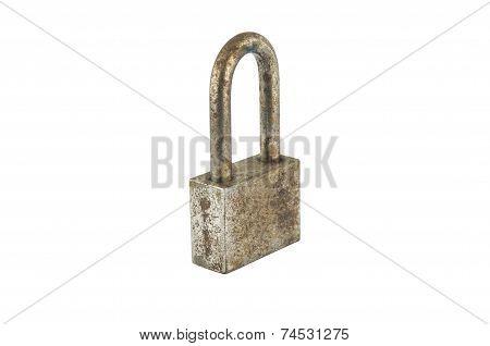 Rust Iron Lock On White