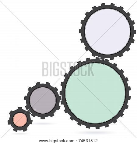 gear colourfull Cogwheel and development icon