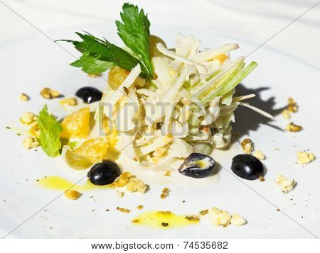 Waldorf Salad From Apple, Orange, Celery