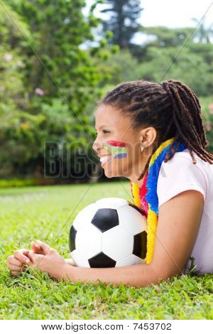 pretty soccer supporter
