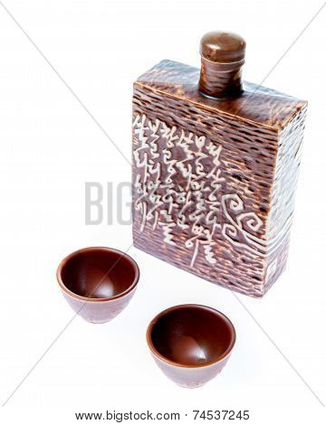 Soju Decanter With Two Glasses