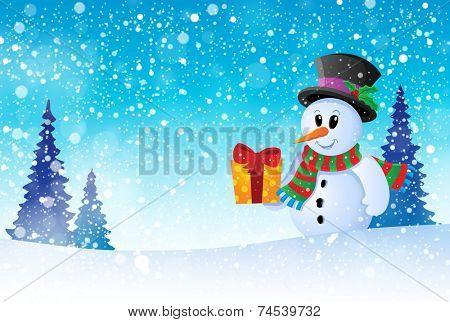Winter snowman theme image 8 - eps10 vector illustration.