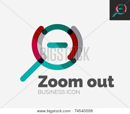 Minimal line design logo, business zoom icon, branding emblem
