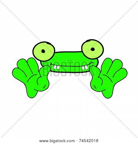 Funny Frog Animal Vector