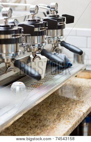 Detail of Professional Espresso Machine