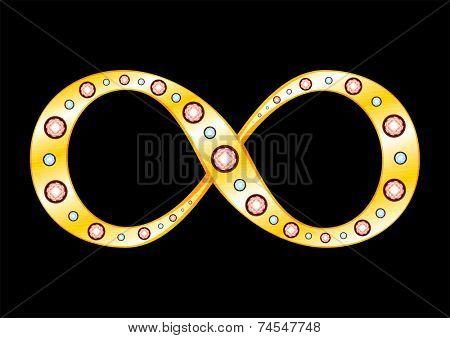 Gold Infinity symbol