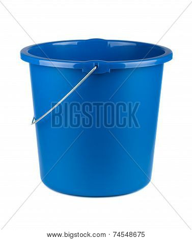 Single Plastic Blue Bucket