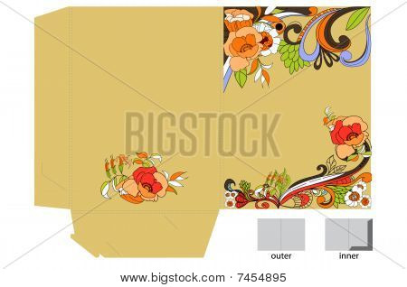 Decorative template for folder design