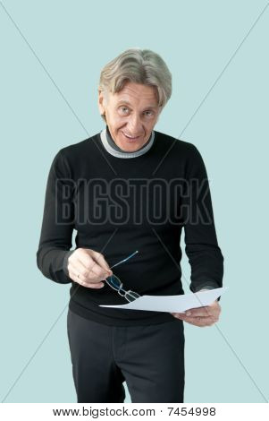 Man Showing Important Papers