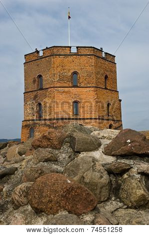 Gediminas Tower on Castle Hill in Vilnius, Lithuan