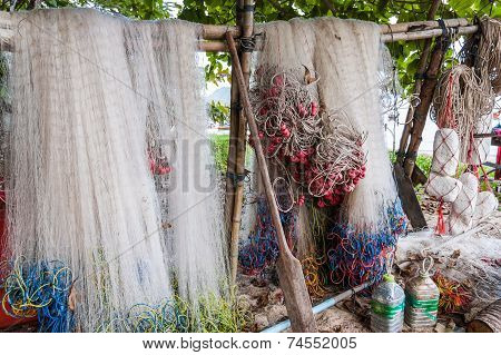 Hanging Fishing Nets