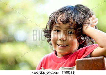 Young Boy Outdoors