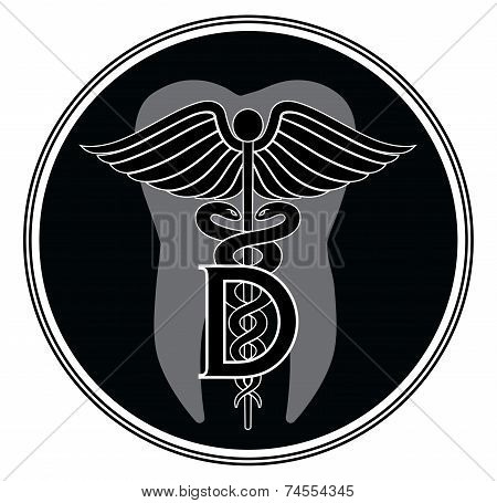 Dentist Medical Symbol Graphic Style