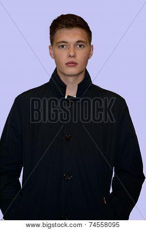 Male Model In Coat