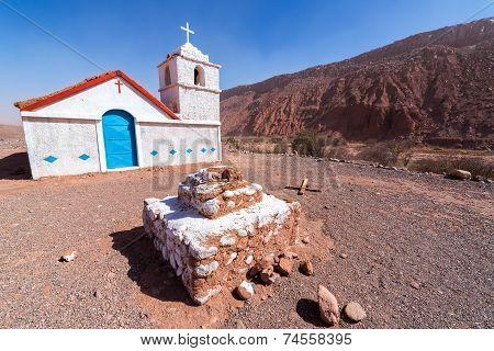 Small Chapel In Atacama Desert