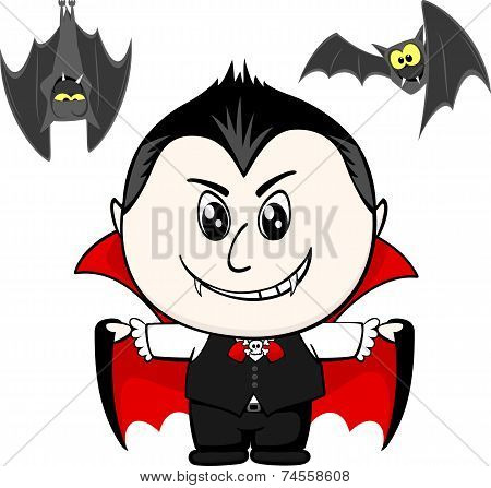 child with vampire costume
