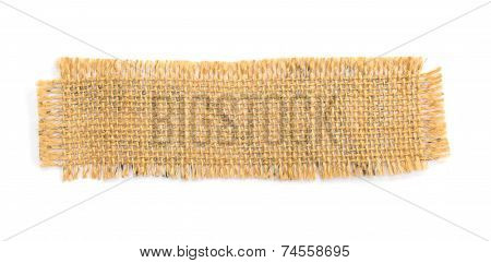 Burlap Hessian Isolated On White Background