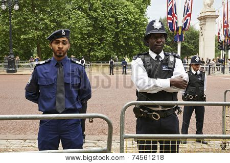 Policemen On Guard