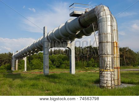 Elevated Section Of The Pipelines