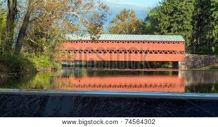 Sachs covered bridge in the Fall