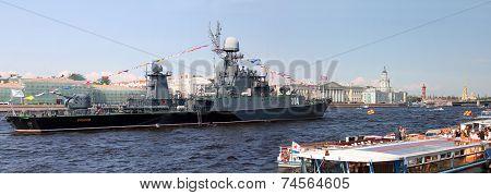 Small Anti-submarine Ship Urengoy. St. Petersburg, Russia