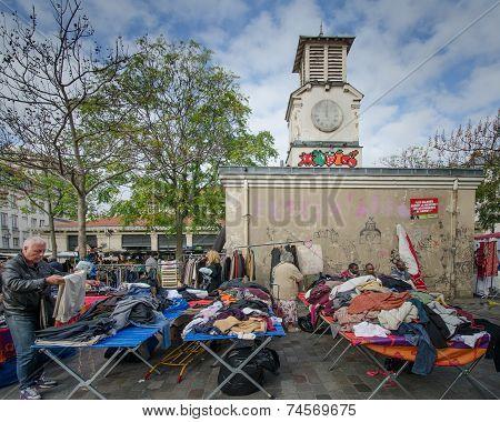 Paris flea market at Place d' Aligre