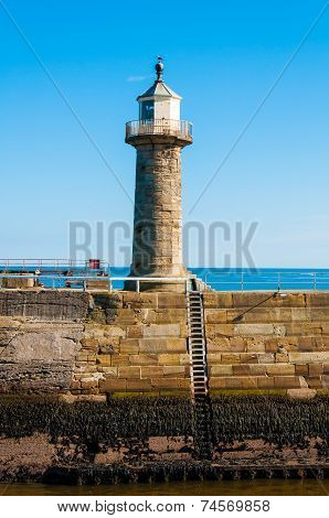 Whitby Lighthouse ,north Yorkshire, Uk