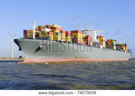 MSC Fabiola in the port of Antwerp