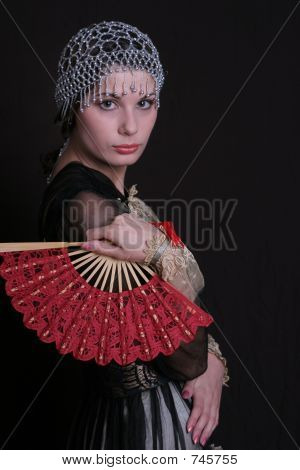 Decadanse With A Red Fan