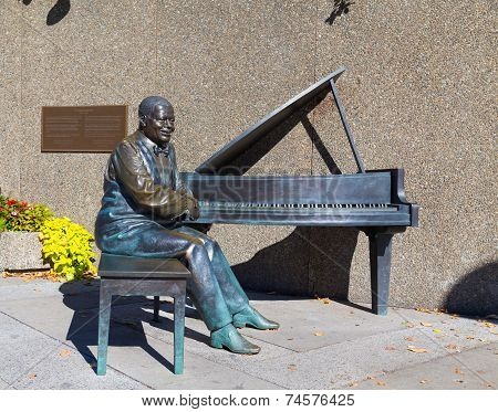 Statue Of Oscar Peterson