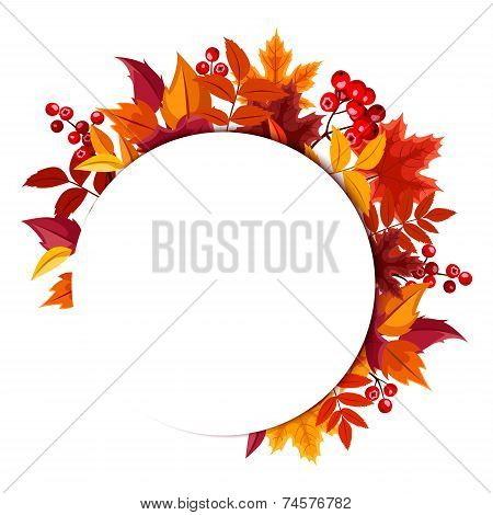 Background with autumn leaves. Vector eps-10.