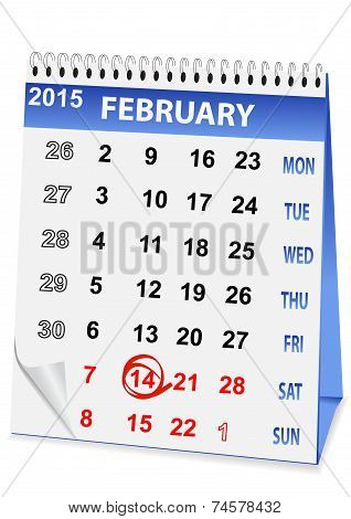 Holiday Calendar For Valentine's Day